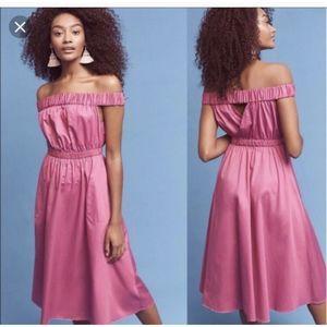 MAEVE Off The Shoulder Dark Pink Dress Sz XL